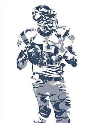 New England Mixed Media - Tom Brady New England Patriots Pixel Art 10 by Joe Hamilton