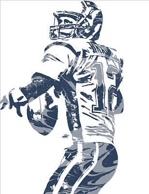 News Mixed Media - Tom Brady New England Patriots Pixel Art 11 by Joe Hamilton