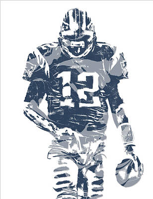 News Mixed Media - Tom Brady New England Patriots Pixel Art 12 by Joe Hamilton