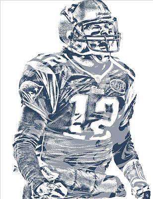 Mixed Media - Tom Brady New England Patriots Pixel Art 41 by Joe Hamilton