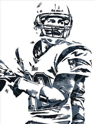 New England Mixed Media - Tom Brady New England Patriots Pixel Art 7 by Joe Hamilton
