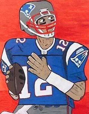 Painting - Tom Brady New England Patriots Quarterback by Jonathon Hansen