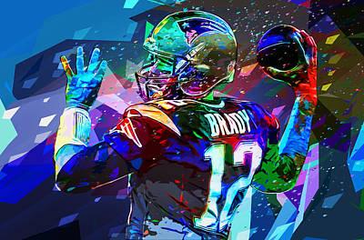 Tom Brady New England Patriots Art Print