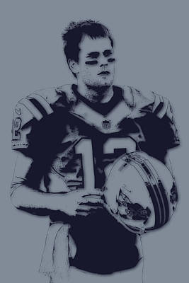 Tom Brady Photograph - Tom Brady Patriots 2 by Joe Hamilton
