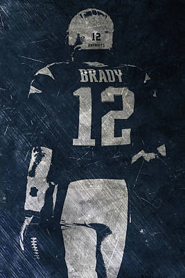Painting - Tom Brady Patriots 3 by Joe Hamilton