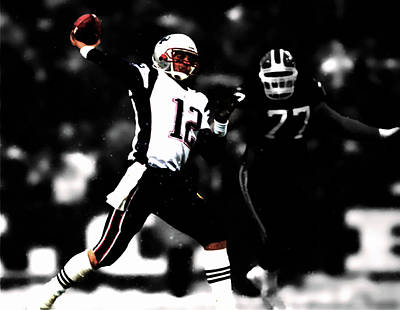 Patriot Mixed Media - Tom Brady Smooth Delivery by Brian Reaves