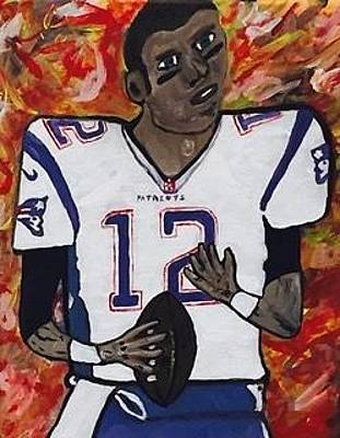 Painting - Tom Brady Super Bowl Mvp by Jonathon Hansen