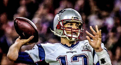 Photograph - Tom Brady - Touchdown by Glenn Feron