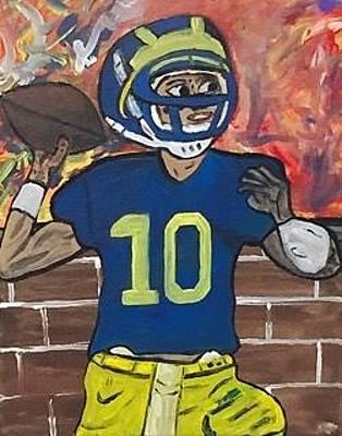 Painting - Tom Brady U Of M by Jonathon Hansen