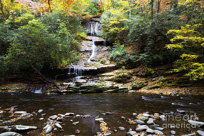 Photograph - Tom Branch Falls In Autumn by Jill Lang