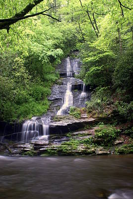 Smoky Mountain National Pall Photograph - Tom Branch Falls by Marty Koch