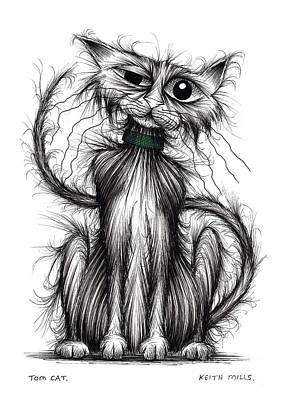 Tom Cat Art Print by Keith Mills