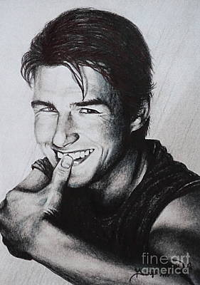 Tom Cruise 1990s Art Print by Georgia's Art Brush