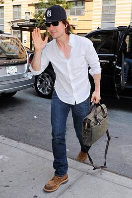 Tom Cruise Carrying A Filson Bag Art Print