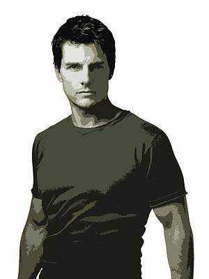 Digital Art - Tom Cruise Cutout Art by David Dehner