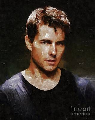 Tom Cruise, Hollywood Legend By Mary Bassett Art Print