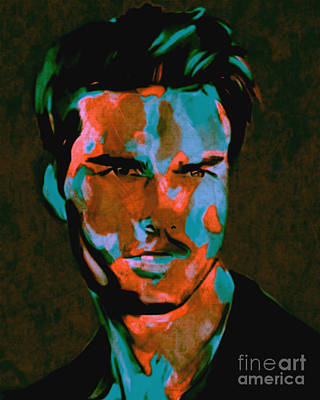 Andywarhol Painting - Tom Cruise Pop Art Pur  by Felix Von Altersheim
