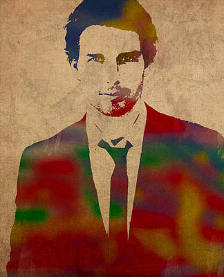 Celebrities Mixed Media - Tom Cruise Watercolor Portrait by Design Turnpike