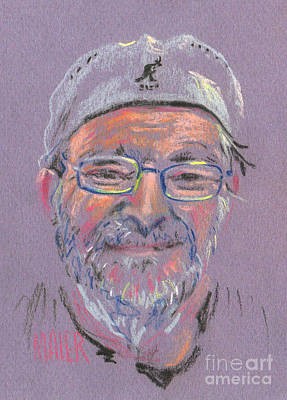 Pastel Portrait Drawing - Tom by Donald Maier