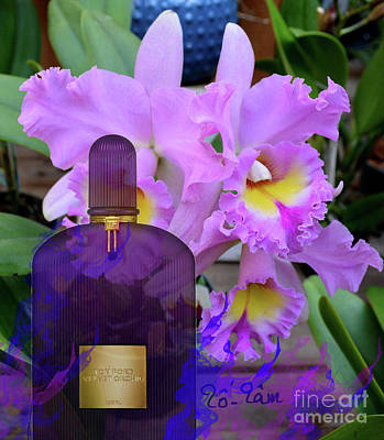 Micheal Digital Art - Tom Ford Velvet Orchid Perfume by To-Tam Gerwe