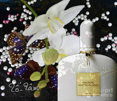 Micheal Digital Art - Tom Ford White Patchouli Perfume by To-Tam Gerwe