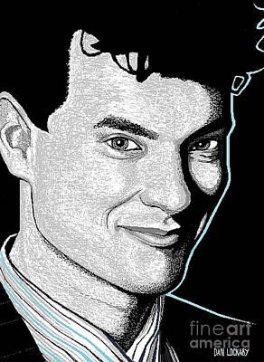Black And White Digital Art - Tom Hanks by Dan Lockaby