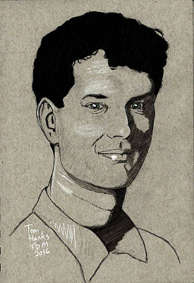 Drawing - Tom Hanks by Frank Middleton