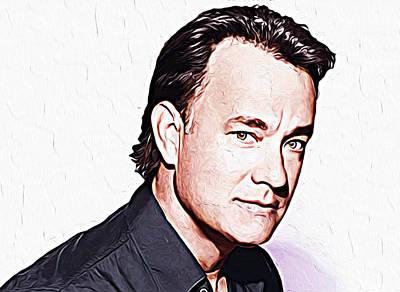 Santa Monica Digital Art - Tom Hanks by Iguanna Espinosa