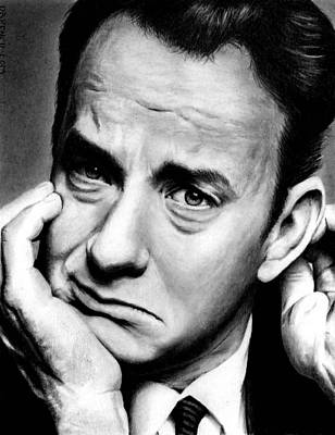 Drawing - Tom Hanks by Rick Fortson