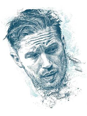 The Dark Knight Drawing - Tom Hardy by Chad Lonius