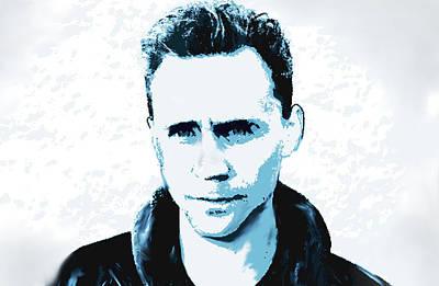 Tom Hiddleston  Art Print by Enki Art