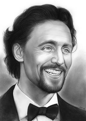 Thor Drawing - Tom Hiddleston by Greg Joens