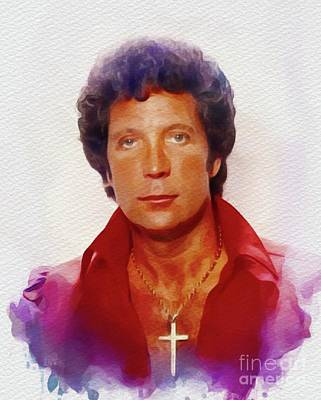 Music Paintings - Tom Jones, Music Legend by Esoterica Art Agency
