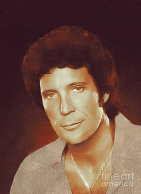 Rock And Roll Royalty-Free and Rights-Managed Images - Tom Jones, Music Legend by Mary Bassett