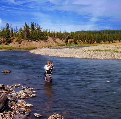 Photograph - Tom Lands A Snake River Whitefish by Joe Duket