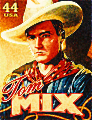 Approval Painting - Tom Mix  by Lanjee Chee
