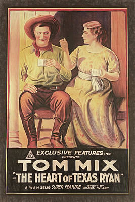 Photograph - Tom Mix - Movie Poster by Donna Kennedy