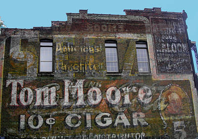 Photograph - Tom Moore Ten Cent Cigar by Anne Cameron Cutri