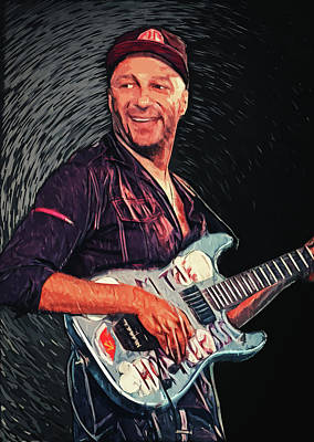 Bruce Springsteen Digital Art - Tom Morello by Taylan Apukovska