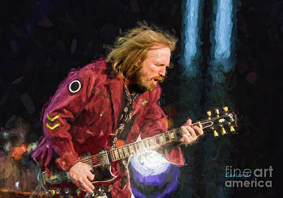 Indoor Mixed Media - Tom Petty And The Heartbreakers II by Garland Johnson