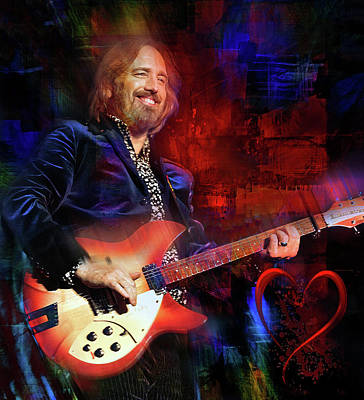 Musicians Royalty Free Images -  Tom Petty and the Heartbreakers Royalty-Free Image by Mal Bray