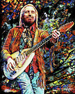 Tom Petty Mixed Media - Tom Petty Art by Ryan Rock Artist