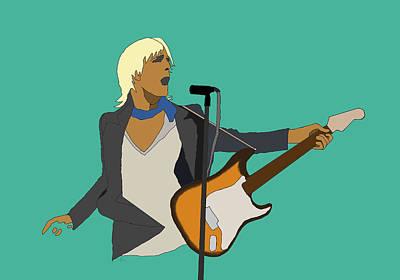 Digital Art - Tom Petty  by G Cannon