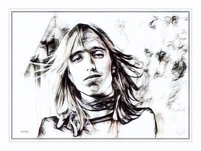 Heartbreaker Digital Art - Tom Petty Illustration  by Scott Wallace