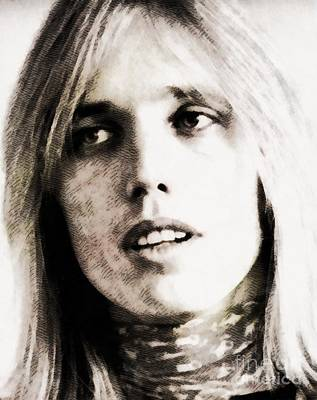 Tom Petty Painting - Tom Petty, Music Legend by John Springfield