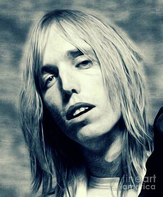 Music Royalty-Free and Rights-Managed Images - Tom Petty, Music Legend by Mary Bassett