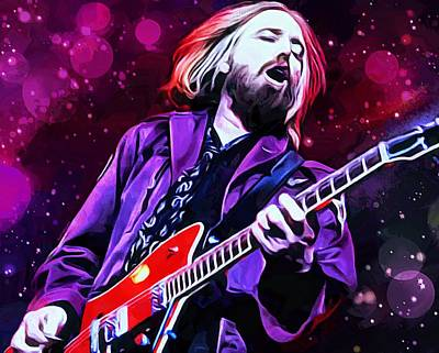 Tom Petty Painting Art Print