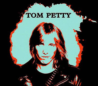 Mixed Media - Tom Petty Pop Art Memorial by Dan Sproul