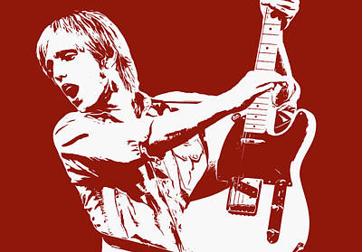 Painting - Tom Petty - Portrait 03 by Andrea Mazzocchetti