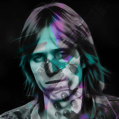 Art Print featuring the mixed media Tom Petty Rock Royalty by Marvin Blaine